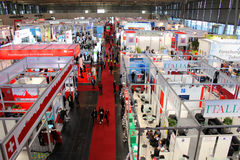 The top view of exhibition hall Stock Images