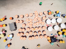 Top view of an exotic beach.  Stock Images