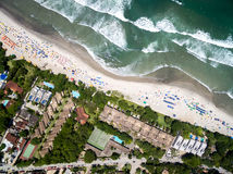 Top View of Exotic Beach in Brazil Stock Images