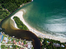 Top View of Exotic Beach in Brazil Stock Photography