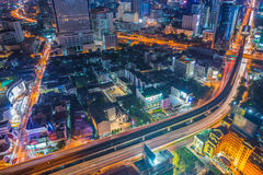 top view of Expressway Highway in Bangkok Thailand Royalty Free Stock Image