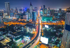 top view of Expressway Highway in Bangkok Thailand Stock Photography