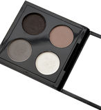 Top view of eye shadow on white.  royalty free stock images