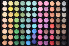 Top view eyeshadow palette Royalty Free Stock Photo