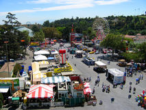 Top View of the Fairgrounds, Los Angeles County Fair, Fairplex, Pomona, California. Top view of the fairgrounds on a sunny day, Los Angeles County Fair, Fairplex Royalty Free Stock Photo