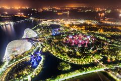Top view of fantastic garden by Marina Bay, Singapore royalty free stock images
