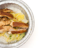 Top view fast food of chicken meat with rice with clipping path Stock Photography