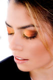 Top view of female's eye shadow Stock Image