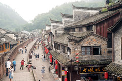 Top view of Fenghuang ancient city. Royalty Free Stock Photo