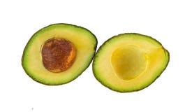 Top view fesh avocado slice isolated on white background.  stock photos