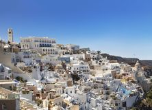 Top view on Fira town, Santorini island Royalty Free Stock Photos