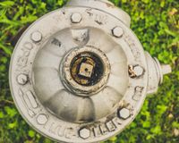Top View of Fire Hydrant stock photo