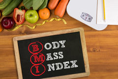 Top view, fitness and weight loss concept, Royalty Free Stock Images