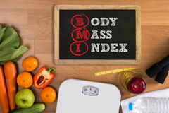 Top view, fitness and weight loss concept, Stock Photography