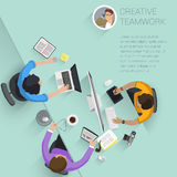 top view flat design vector office people