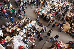 Top view of  flea market Royalty Free Stock Photography