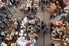 Top view of flea market in Barcelona Stock Images