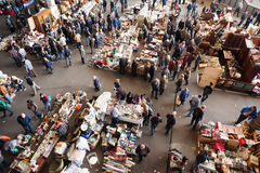 Top view of Flea market in Barcelona Stock Photography