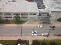 Top view. Top floor at university of Louisville hospital stock image