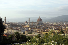 Top-view of Florence. View of Florence from Michelangelo Square Royalty Free Stock Images