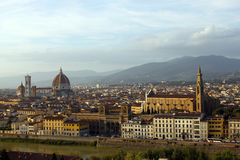 Top-view of Florence. View of Florence from Michelangelo Square Stock Photo