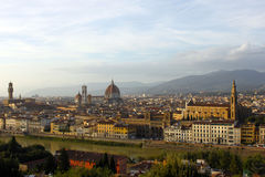 Top-view of Florence. View of Florence from Michelangelo Square Stock Photography