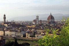 Top-view of Florence. View of Florence from Michelangelo Square Stock Photos