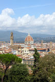 Top view of Florence. Santa Maria del Fiore. Is a central Cathedral Stock Photography