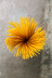 Top view Flower shape Bunch of spaghetti Royalty Free Stock Photos