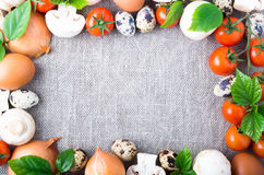 Top view of the food ingredients from the farm Stock Images