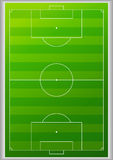 Top view football field background Stock Photos