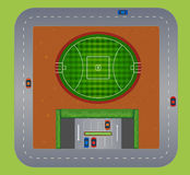 Top view of football field Royalty Free Stock Images