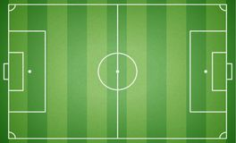 Top view of football field. Textured soccer field. Green playgro. Und background. Vector illustration. web icon Stock Image