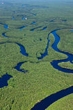 Top view  the forest river Stock Image