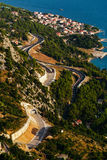 Top view from the fortress Stari Grad on the town of Nemira in Croatia. Royalty Free Stock Photos