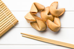 Top view of fortune cookie Stock Photo