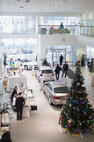 Top view of the foyer with a reception and cars Royalty Free Stock Photography