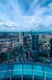 Top view of Frankfurt am Main Royalty Free Stock Photo