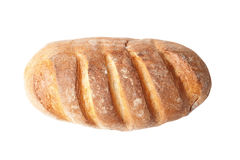 Top view of french loaf bread isolated on white Stock Images