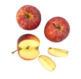 Top view of fresh red apples Stock Photo