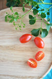 Top view of fresh tomato Stock Images