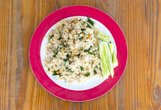 Top view Fried rice Thai food Royalty Free Stock Photos