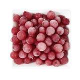 Top view of frozen currants in bowl Royalty Free Stock Images