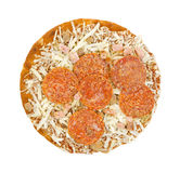 Frozen thick crust pizza Stock Photography