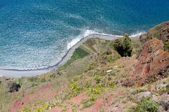 Top view from Gabo Giraol at Madeira Island, Portugal Royalty Free Stock Photography