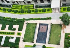 Top view of garden Stock Image