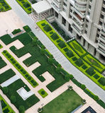 Top view of garden Stock Photos