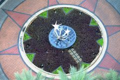 Top View of Garden Entrance Royalty Free Stock Image