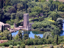 Top view of Gardino di Ninfa Stock Photography