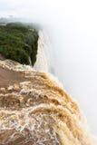 Top view of the garganta do biado at iguazu falls view from argentina. Top view of the garganta do biado at iguazu falls national park view from argentina Royalty Free Stock Photo